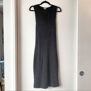 TOBI Grey Knit Midi Dress